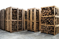 Stapels brandhout Royalty-vrije Stock Fotografie