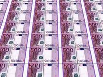 Stapels Euro nota's Stock Fotografie