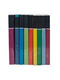 Stapels kleurrijke echte boeken Stock Foto