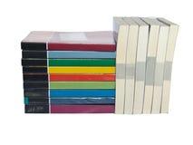 Stapels kleurrijke echte boeken Royalty-vrije Stock Afbeeldingen