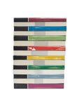 Stapels kleurrijke echte boeken Stock Afbeeldingen