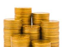 Stapels muntstukken Stock Foto