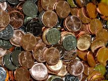 Stapels muntstukken Stock Afbeeldingen