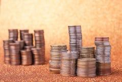 Stapels muntstukken royalty-vrije stock afbeelding
