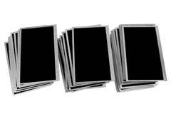 Stapels oude die LCD panelen op witte achtergrond worden geïsoleerd Royalty-vrije Stock Fotografie