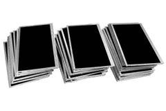 Stapels oude die LCD panelen op witte achtergrond worden geïsoleerd Royalty-vrije Stock Foto's