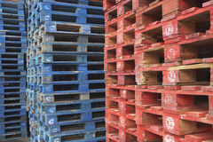 Stapels Pallets Stock Foto