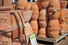 Stapels Potten van het Terracotta Stock Foto