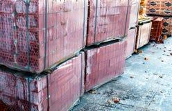 Stapels silicaatbakstenen Stock Foto