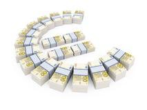 Stapels van 200 Euro muntnota's Stock Afbeeldingen