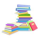 Stapels van boeken stock illustratie