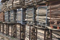 Stapels van brandhout Royalty-vrije Stock Afbeeldingen