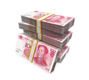 Stapels van Chinees Yuan Banknotes Royalty-vrije Stock Afbeelding
