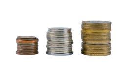 Stapels van de muntstukken stock afbeelding