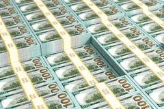 Stapels van 100 Dollar rekeningen - Achtergrond royalty-vrije illustratie