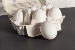 Stapels van eieren Royalty-vrije Stock Foto