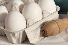 Stapels van eieren Stock Afbeelding