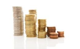 Stapels van Euro geldmuntstukken Stock Fotografie