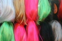 Stapels van gekleurd haar Stock Foto's