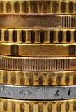 Stapels van gouden euro Stock Foto