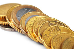 Stapels van gouden euro Royalty-vrije Stock Fotografie