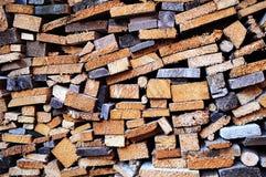 Stapels van hout Stock Foto's