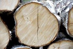 Stapels van hout Stock Foto