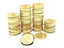 Stapels van muntstukken royalty-vrije illustratie