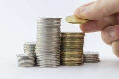 Stapels van muntstukken Royalty-vrije Stock Afbeelding