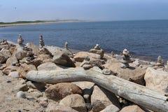 Stapels van Rotsen bij strand 2 Royalty-vrije Stock Foto