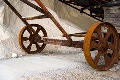 Stapels van zout in een opslag Royalty-vrije Stock Foto
