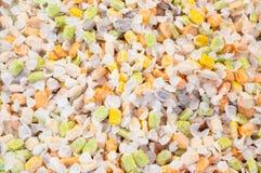 Stapelsuikergoed en taffy snoepjes met kleurrijk Stock Foto's