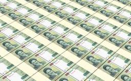 Stapelten Rial Rechnungen Hintergrund lizenzfreie abbildung