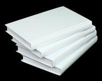 stapelvolymer för svart bok fyra Royaltyfri Fotografi