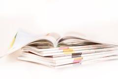 Stapla av tidskrifter Royaltyfri Fotografi