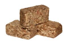 stapla för briquetteschiper Royaltyfri Foto
