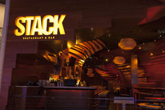 Stapla restaurangen på hägringen i Las Vegas, NV på Augusti 11, 20 Arkivbild