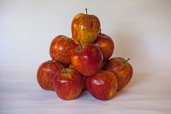 staplad äpplered royaltyfri bild