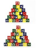 Staplad alfabetabc blockerar barnet Royaltyfri Fotografi