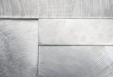 staplad bakgrundsblockmetall Arkivbild