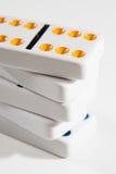 Staplad dominoCloseup Fotografering för Bildbyråer