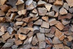 Staplad hög av trä Arkivfoton