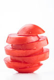 Staplad skivad tomat Arkivfoto
