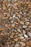 Staplad stenvägg av flera format Royaltyfri Bild