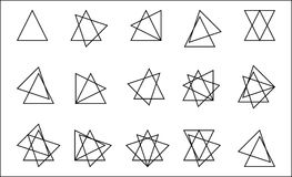 Staplad triangel royaltyfri illustrationer