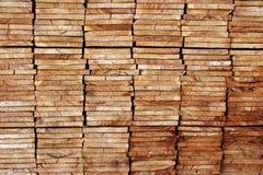 staplade bräden Arkivbild
