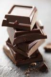 Staplade chokladstycken Arkivbild