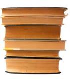 Staplade gamla böcker Arkivbild