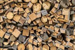 Staplade gamla wood rest Fotografering för Bildbyråer
