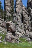 Staplade granitstenblock royaltyfria foton